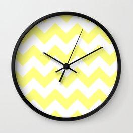Butter Yellow Chevron Wall Clock