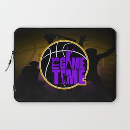 It's Game Time - Purple & Gold Laptop Sleeve