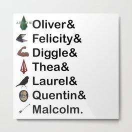 Arrow Names Metal Print