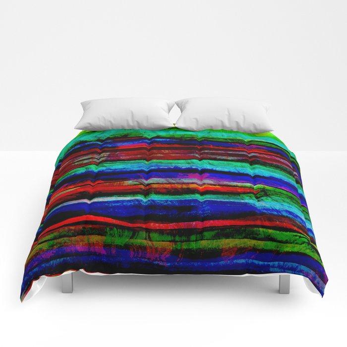colorful bohemian pattern Comforters