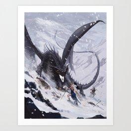 Dragon Emperor Art Print