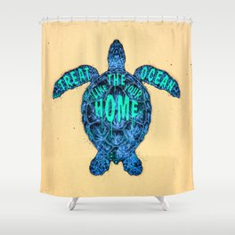 ocean omega Shower Curtain