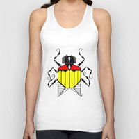 bug Tank Tops featuring Bug by Okes