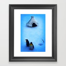Frozen land Framed Art Print