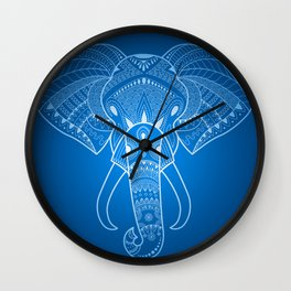 Serious Elephant Two Wall Clock