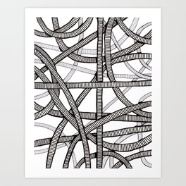 Pipes and Stripes Art Print