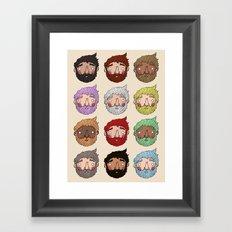 Beards Framed Art Print