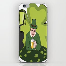 St Patricks Day Man with Beer iPhone Skin