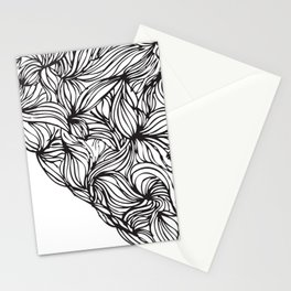 Hairy Heart  Stationery Cards