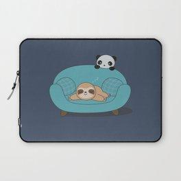 Kawaii Cute Panda And Sloth Laptop Sleeve