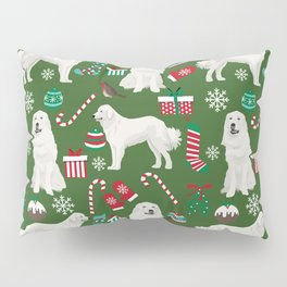 Great Pyrenees christmas festive dog gifts for the dog lover pet friendly pet portraits Pillow Sham
