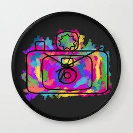 Colorful Camera Wall Clock