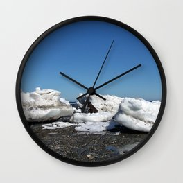 Icebergs and the big Dog Wall Clock