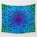 Buddha Head Blues Purples Greens by mysticdragon