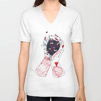 wanderlust V-neck T-shirts featuring Wanderlust by scoobtoobins