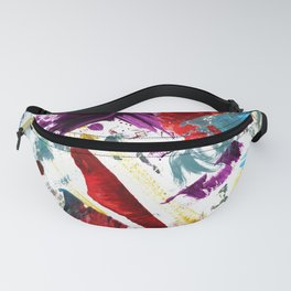 Funky painted mess Fanny Pack