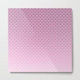 Lilac geometric pattern Metal Print