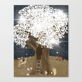 the starlight tree Canvas Print