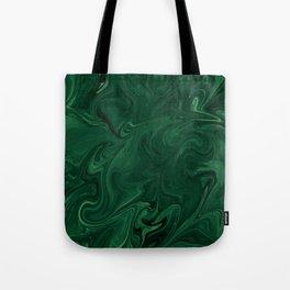 Modern Cotemporary Emerald Green Abstract Tote Bag