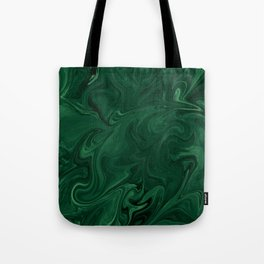 Modern Cotemporary Emerald Green Abstract Tote Bag