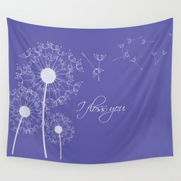 I floss you (purple) Wall Tapestry