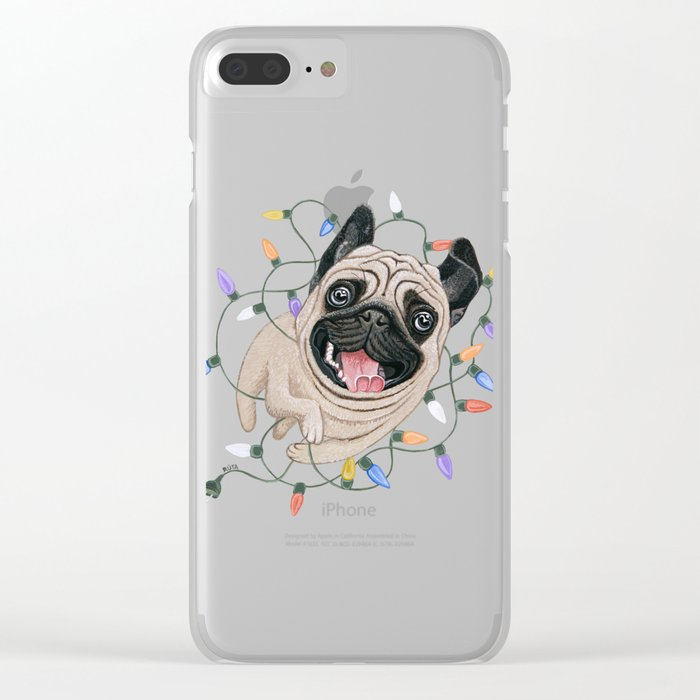 Pug Clear iPhone Case