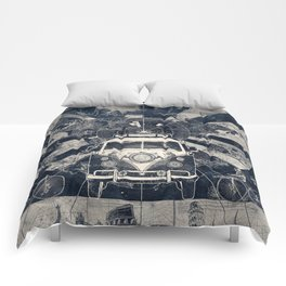 vintage voyager world map Comforters
