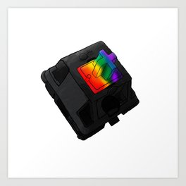 Clack the Rainbow Art Print