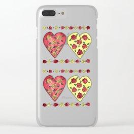 Rose Love Clear iPhone Case