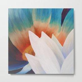 Juxtaposed Flowers Metal Print