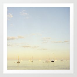 Crescent Beach Boats Art Print