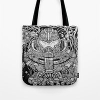 pacific rim Tote Bags featuring Pacific Rim by Walid Aziz