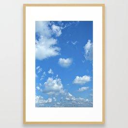 Blue sky and clouds Framed Art Print