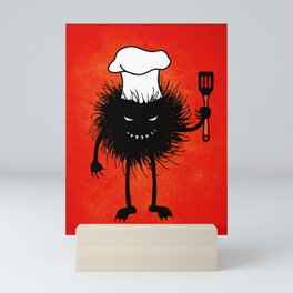 Evil Bug Chef Loves To Cook Mini Art Print