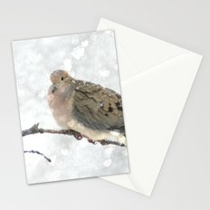 Snowy Winter Dove Stationery Cards