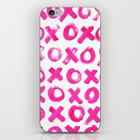 xoxo iPhone & iPod Skins featuring XOXO by MADE BY GIRL