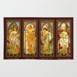 Vintage Art Nouveau - Alphonse Mucha Rug