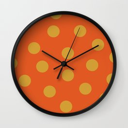 POLKA DOTS - Flame and Pumpkin Wall Clock
