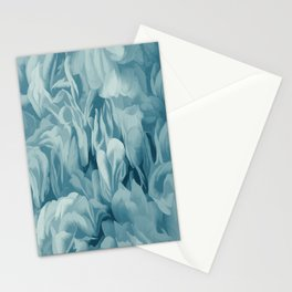 Soft Baby Blue Petal Ruffles Abstract Stationery Cards
