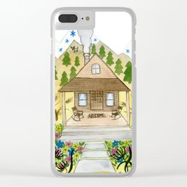 Welcome Cabin Clear iPhone Case