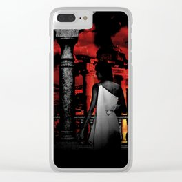 The Burning of Rome Clear iPhone Case