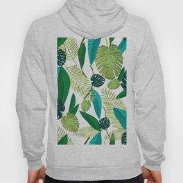Tropical Green Leaves Hoody