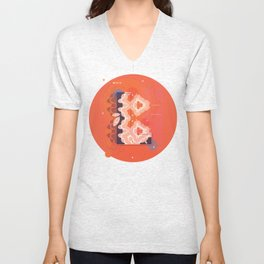L (Pattern-Infected Type) Unisex V-Neck