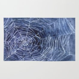 Spiderweb in watercolor Rug