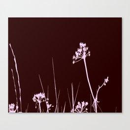 SEA PLANTS PURPURE&BROWN Canvas Print