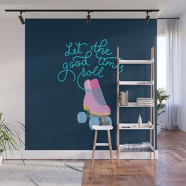 Let the Good Times Roll (Navy Background) Wall Mural