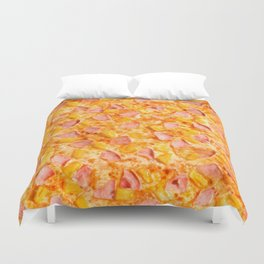 Pineapple Pizzas are People Too. Duvet Cover