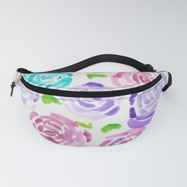 7  |  190411 Flower Abstract Watercolour Painting Fanny Pack