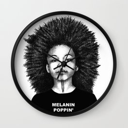 Melanin Poppin Wall Clock