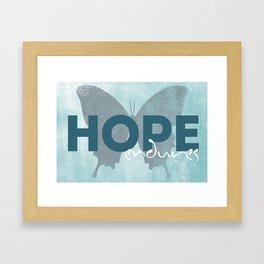 Hope Quote Framed Art Print